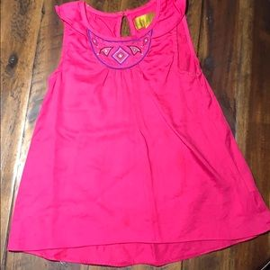 Nicole Miller pink embroidered dress